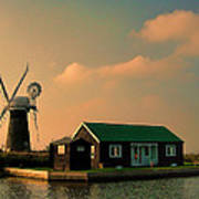 Sunset On The Broads Poster