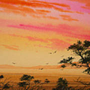 Sunset On The Coast Poster