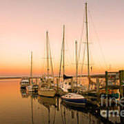 Sunset On The Dock Poster by Southern Photo