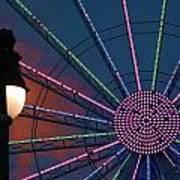sunset on the Ferris wheel Poster