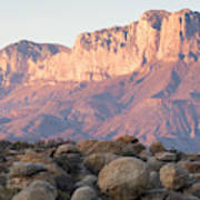 Sunset On The Guadalupe Mountains Poster