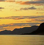 Sunset On The Gulf Of Alaska Poster