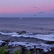 Sunset On The Marginal Way In Ogunquit Maine Poster