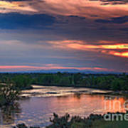Sunset On The Payette  River Poster by Robert Bales