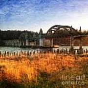Sunset On The Siuslaw River Poster