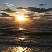 Sunset On Venice Beach  Poster