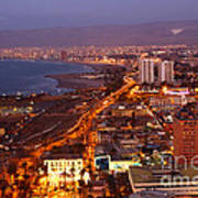 Sunset Over Arica Chile Poster