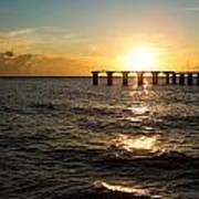 Sunset Over Boca Grande Florida Poster