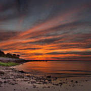 Sunset Over Buzzards Bay Poster
