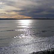 Sunset Over Calypso Beach Poster