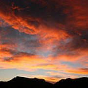 Sunset Over Estes Park Poster