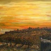 Sunset Over Jerusalem Poster