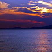 Sunset Over Korcula Poster