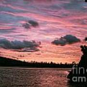 Sunset Over Lake Bailey Poster