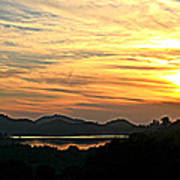 Sunset Over Lake Wohlford Poster