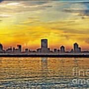 Sunset Over Milwaukee Poster