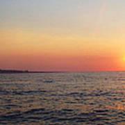 Sunset Over Montauk Poster by John Telfer