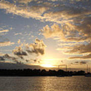 Sunset Over Peanut Island Poster