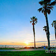 Sunset Over Santa Barbara Poster by Artist and Photographer Laura Wrede
