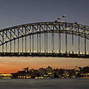 Sunset Over Sydney Harbour Bridge Poster