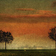 Sunset Over The Country Poster