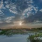 Sunset Over The Dunes Poster
