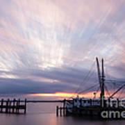Sunset Over The Senseless Fernandina Beach Florida Poster