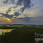 Lowcountry Sunset Over The Wando River Poster