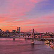 Sunset Over Tilikum Crossing Poster