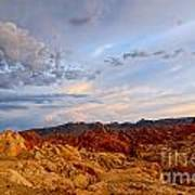 Sunset Over Valley Of Fire State Park In Nevada Poster