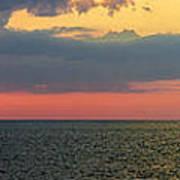 Sunset Panorama Over Atlantic Ocean Poster