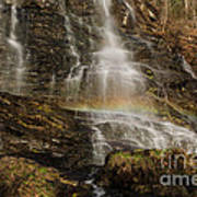 Sunset Rainbow At Amicalola Falls Poster