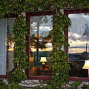 Sunset Reflection On Empress Window Poster