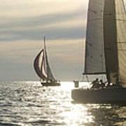 Sunset Sailing Poster