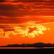 Sunset Sky Fire Poster