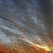 Sunset Sky With Cirrocumulus Clouds Usa Poster