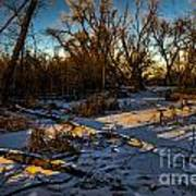 Sunset Snow Poster by Baywest Imaging