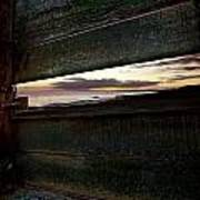Sunset Throough The Fence Poster