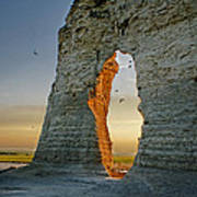 Sunset Through The Keyhole Poster
