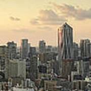 Sunset Tokyo Tower Panorama Poster