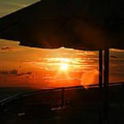 Sunset Under The Umbrella By Diana Sainz Poster