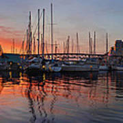 Sunset View From Charleson Park In Vancouver Bc Poster