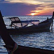 Sunset View From Sunset Beach On Ko Lipe Island In Thailand Poster