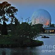 Sunset World Showcase Lagoon Poster