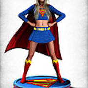 Super Girl V2 Poster by Frederico Borges