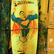 Superman Surfboard Poster