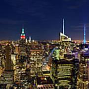 Supermoon Over Manhattan Poster