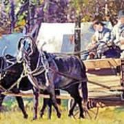 Supply Wagon Poster