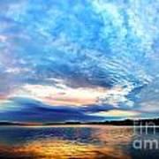 Sureal Pewaukee Lake Sunrise Poster