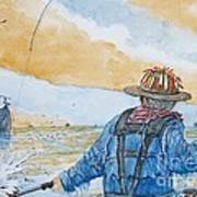 Surf Trout Fishing Poster